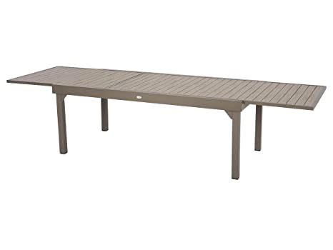 Table extensible composite Piazza 8/12 places Noir/Tonka ...