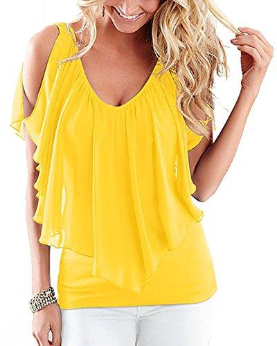 Huiyuzhi Womens Summer Off shoulder Blouse product image