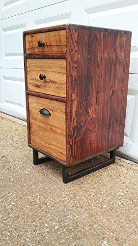 Rustic Wood Filing Cabinet