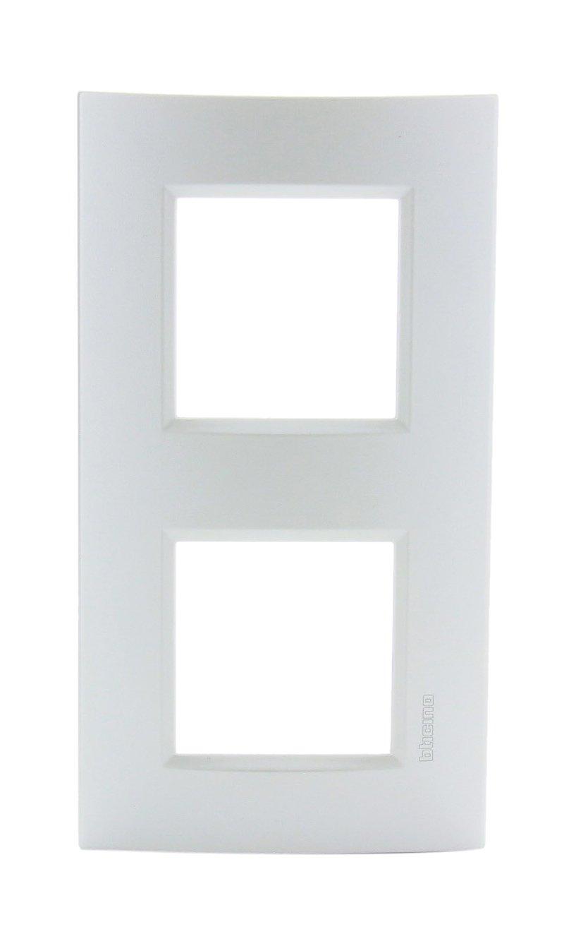 bticino 448248022/placa doble Horizontal
