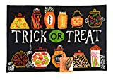 Cheap Midnight Market Halloween Accent Rug (Trick or Treat)