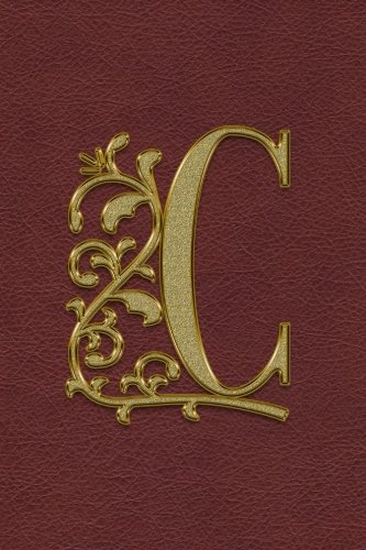 Journal: Gold C Initial Design Cover / Blank Journal / Sketch / Drawing Book - 6