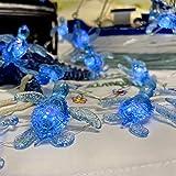 Blue Sea Turtle String Lights Nautical Wall Décor