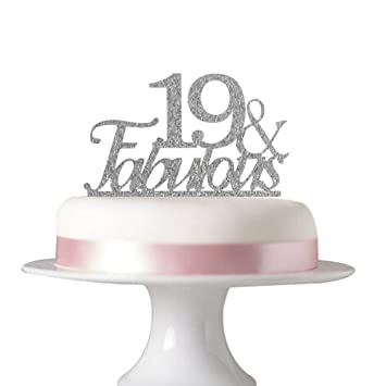 19 Fabulous Cake Topper For 19th Birthday Party Decorations