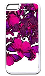 Butterfly Cluster-(Purples)-Case for the APPLE IPHONE 6 PLUS ONLY!!!-NOT COMPATIBLE WITH THE REGULAR IPHONE 6!!!-Hard White Plastic Outer Case