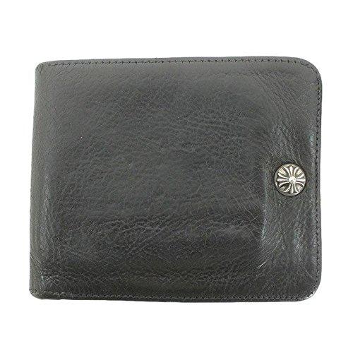 (クロムハーツ) Chrome Hearts 【1SNAP/1スナップ】クロスボールボタン財布(ブラック×シルバー) 中古 B07CWNBYV9