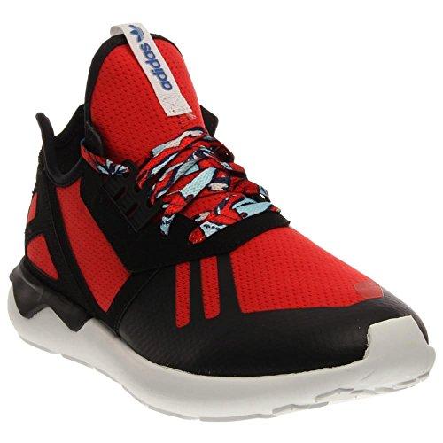 Adidas Men's Tubular Runner Running Shoes Red/Black/White 9.5 D(M) US