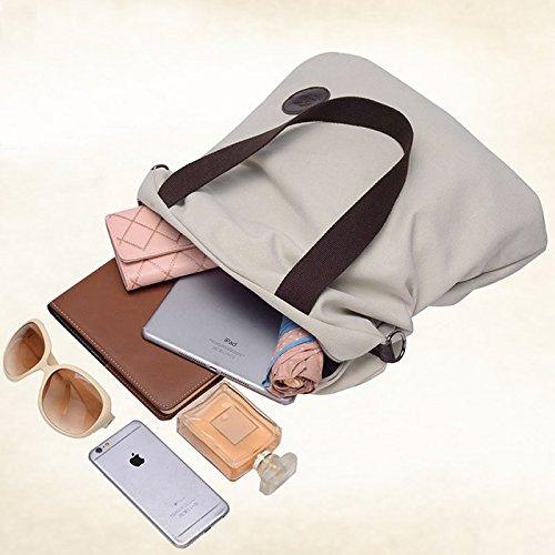 Crossbody Tote Canvas Satchel Bag Handle Beige Handbag 4H8Tqdw
