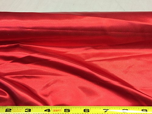 Discount Fabric Satin 65 inches wide Choose your Color Red