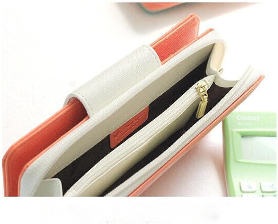 Koly Oiseaux Embrayage Portefeuille /éTui En PU Cuir Zip Long Bouton Carte Sac /à Main