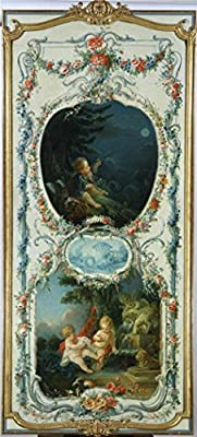 The High Quality Polyster Canvas Of Oil Painting 'Francois Boucher (Workshop Of) - The Arts And Sciences Astronomy And Hydraulics, 1750-52' ,size: 18x40 Inch / 46x101 Cm ,this Cheap But High Quality Art Decorative Art Decorative Canvas Prints Is Fit For N