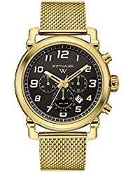 Wittnauer Mens Quartz Stainless Steel Casual Watch, Color:Gold-Toned (Model: WN3071)