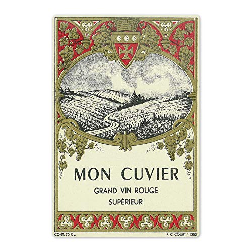 Lantern Press Mon Cuvier - Vintage Wine Label 4606 (6x9 Aluminum Wall Sign, Wall Decor Ready to Hang)