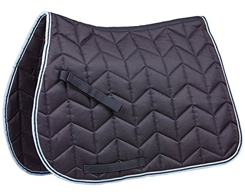 (Saxon Element Quilted AP Saddle Pad Full Navy/Blue)