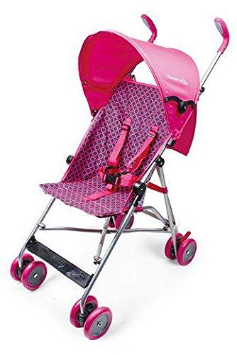 Wonder Buggy Skyler Jumbo Umbrella Stroller with Rounded Hood - Pink by Wonder Buggy