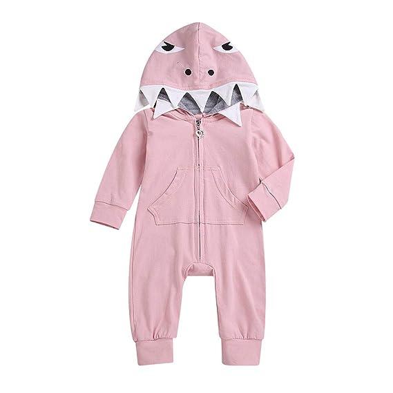 MAYOGO Ropa Tiburon Niña Body de Manga Larga para Bebe ...