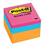 Post-it® Notes Cube, 2-Inch x 2-Inch, Orange Wave, 400 sheets per cube, 1 cube per pack, (2051-N-C)