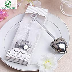 Wedding Favors - Heart Shaped Tea Leak Wedding Favors Gifts Souvenirs Boda Strainers Filter Bags Infuser Office - Unicorn New Seed Dish Stickers Dice Beach Bottle Disney Coasters