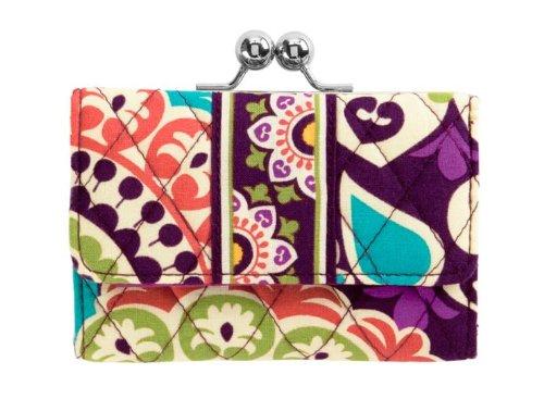 Vera Bradley Small Kisslock Wallet in Plum Crazy, Bags Central