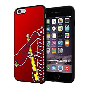 """ST Louis Cardinals Baseball,Cool iPhone 6 Plus (6+ , 5.5"""") Smartphone Case Cover Collector iphone TPU Rubber Case Black"""