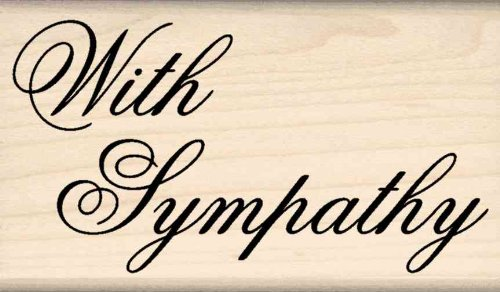 Stamps by Impression With Sympathy Rubber Stamp (End Sympathy Card)