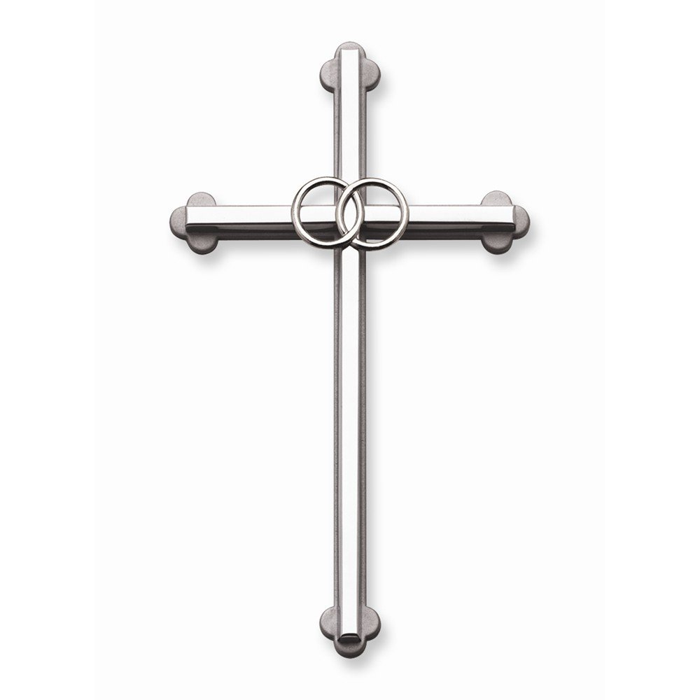 Best Birthday Gift Silver-tone Wedding 8 Wall Cross by Jewelry Brothers Gifts