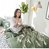 VClife Duvet Cover Sets Cactus Design Bedding Duvet Cover Sets Floral Branches Bedding Sets, Hotel Quality Cotton Bedding Comforter Cover Sets-1 Duvet Cover 2 Shams for All Seasons, Soft Breathable