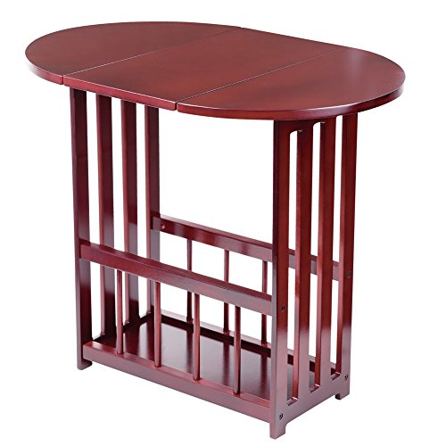 Mission Style Wood Drop Leaf Table, Red - Leaf Drop Table Style