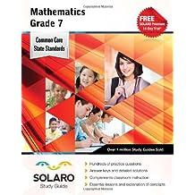 Common Core Mathematics Grade 7: Solaro Study Guide