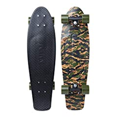 """For those who appreciate a little extra plastic under your feet, this ticks all the boxes. Featuring our secret plastic formula, this Penny Nickel 27"""" is matched with 4"""" Penny skateboard trucks, 59mm 83A super smooth Penny skate wheels, and P..."""