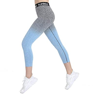 696fa32c05 Playbold seamless ombre workout pants running yoga pants women yoga capri workout  leggings jpg 385x385 Ombre