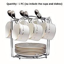 Yontree 6 Hooks Mugs Tree Cup Rack Dishes Organizer Style B