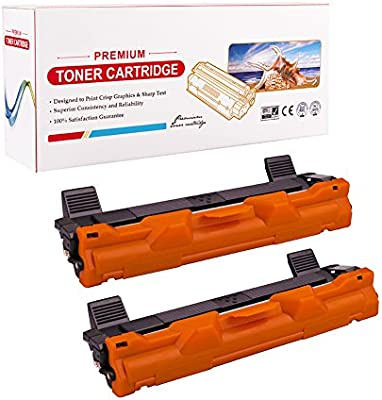 RadTek 2 x Cartuchos de Tóner Compatible Brother TN1050 TN-1050 para Brother HL-1110 HL-1112 HL-1210W DCP-1510 DCP-1512 DCP-1610W MFC-1810 MFC-1910 ...
