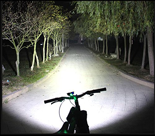 Nestling X2 CREE XM-L U2 LED Rechargeable Waterproof 5000Lm Black Bicycle Bike Light headlamp 1x Free 5 LED Tail Light with Install Holder Charger Battery