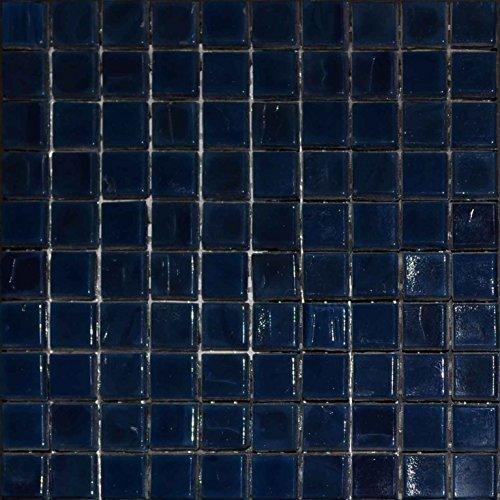 Mosaic Plain Sheet - Navy blue (Plain Glass Mosaic)