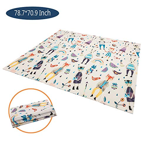 JOYMOR XXL Foldable CPC Certificated Extra Large Baby Playmat BPA-Free Non-Toxic, Portable Skidproof Soft Cushioned Waterproof Floor Mat for Infants, Toddlers & Kids