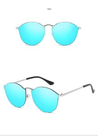 0ee911eb9496 Fashion Quality Rimless Sunglasses Women Brand Designer Aviator Female Lady Sunglass  Mirror Oculos (BLUE)