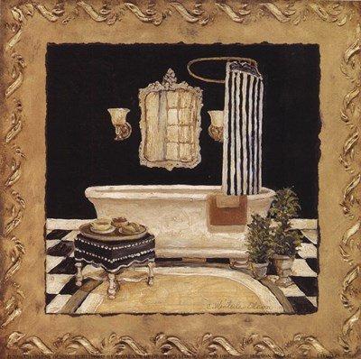 Maison Bath II by Charlene Winter Olson - 6x6 Inches - Art Print Poster