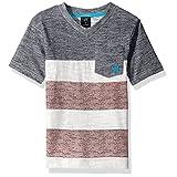 U.S. Polo Assn. Big Boys' Short Sleeve Embellished V-Neck Cotton-Poly T-Shirt, Classic Navy, 8