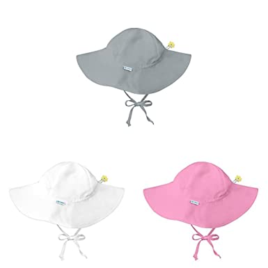 5b74e15975811 Amazon.com  i play. Baby   Toddler Girls  Brim Sun Protection Hat (3 pack)