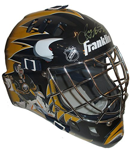 Ryan Miller Autographed / Signed Buffalo Sabres Photo Full Size Franklin Goalie Mask w/ Proof Photo of Signing & COA
