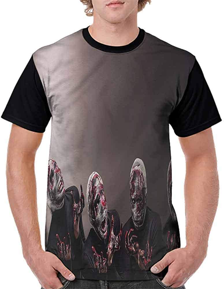 BlountDecor Loose T Shirt,Scary Witch Cauldron Potion Fashion Personality Customization