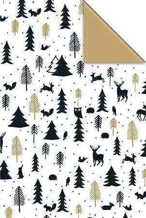 Modernes Geschenkpapier Für Weihnachten 6 Rollen Breite 70cm