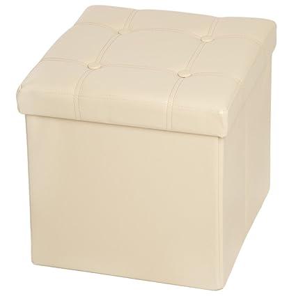 TecTake - 38 x 38 x 38 cm Taburete plegable caja de almacenaje de ...