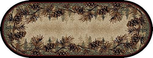 Mayberry Rugs 3823 Rustic Lodge Mount Le Conte Area Rug, 2