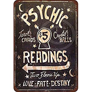 Amazon.com: Stevenca Metal Tin Sign Psychic Readings $5 ...