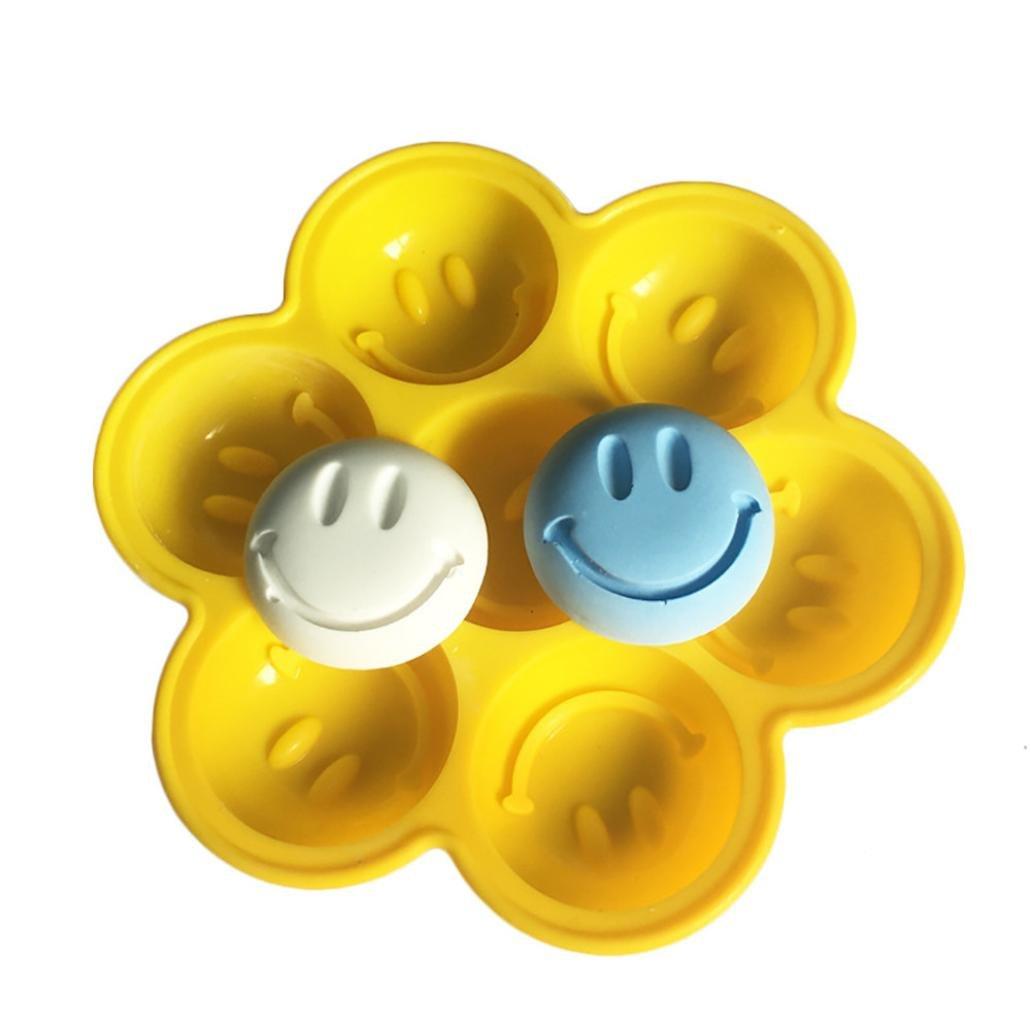開店記念セール! ikevan 2018ホット販売Mould ikevan、DIY金型Smiling B07CNT55VG 8面式ケーキデコレーション用シリコンフォンダンチョコレート金型 B07CNT55VG, ケンタウロス:87024dad --- a0267596.xsph.ru