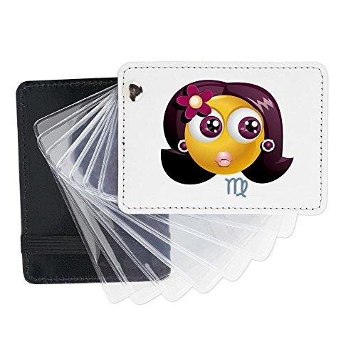 Truly Teague Leather Card Holder Wallet SmileyFace Zodiac Virgo