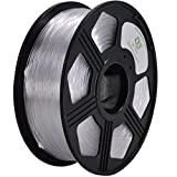 YOYI PETG 3D Printer Filament 1.75mm, Diameter Tolerance +/- 0.03 mm, 1 KG Spool, 1.75 mm PETG filament for 3D printer (Transparent)