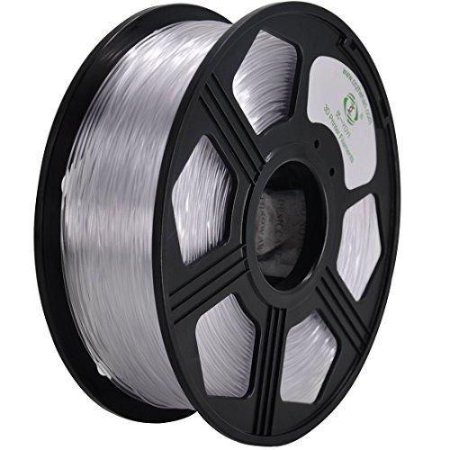 YOYI PETG 3D Printer Filament 1.75mm, Diameter Tolerance +/- 0.03 mm, 1 KG Spool, 1.75 mm PETG filament for 3D printer (Transparent) by YOYI